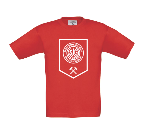 Kids T-Shirt Bergbau rot